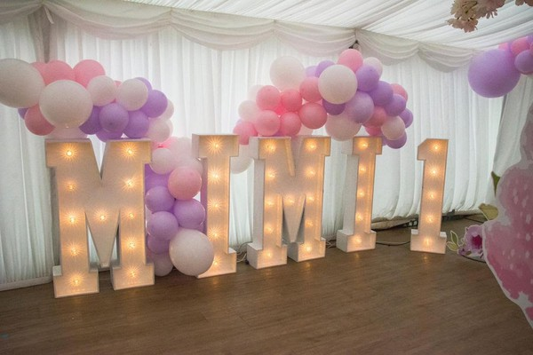 Event Light Up Letters and Numbers