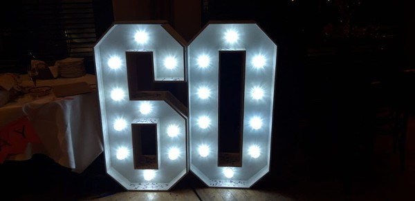 Ex Hire Light Up Letters and Numbers