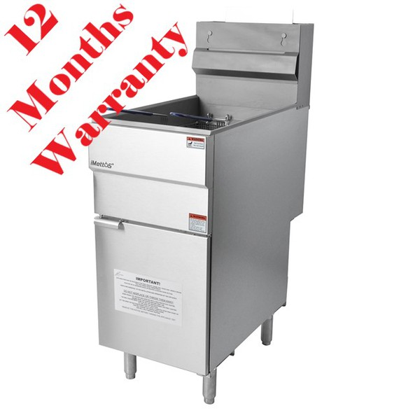 New Imettos 101061 Twin Basket Fryer Freestanding (8770)