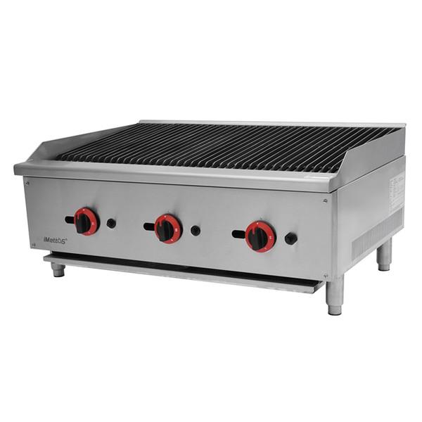 New Imettos 101056 3 Burner Char Broiler (8772)