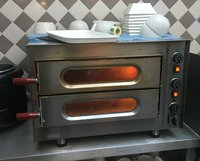 Twin deck electric stone oven