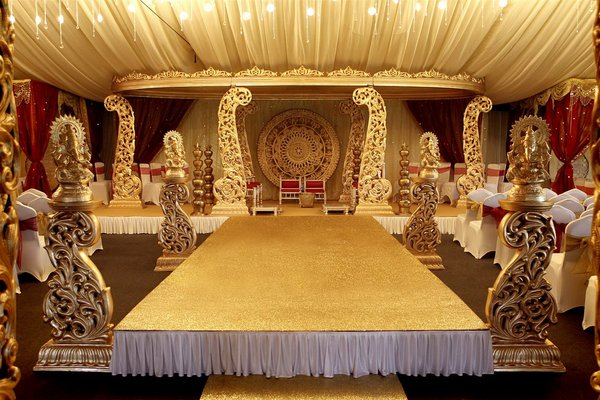 Gold peacock Mandap - for sale