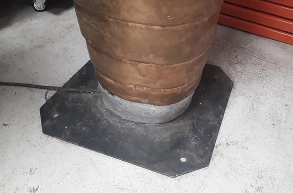 Heavy steel base