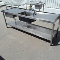 Used Stainless Steel Single Bowl Sink (8793)