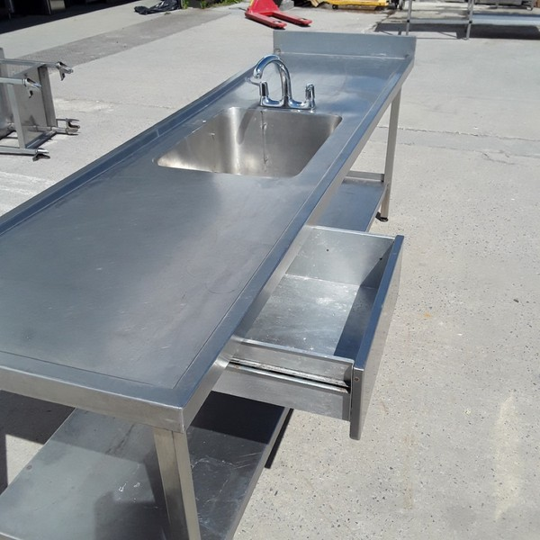 Used Stainless Steel Single Sink (8793)