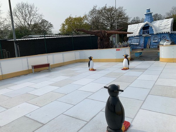 Used ice rink