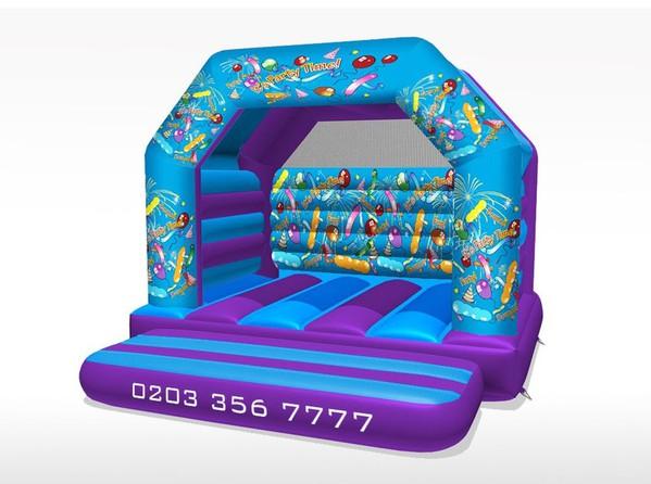 5m x 5m bouncy castle for sale
