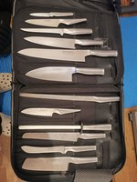 Global knife set with professional bag