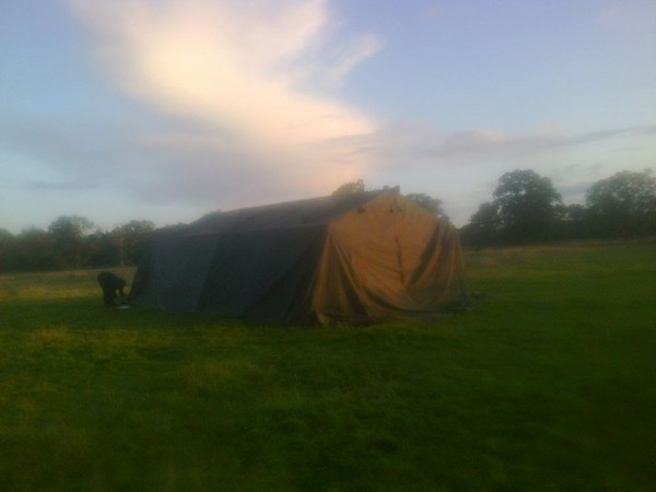 Army Frame Tent. 21ft x 24ft. Good condition.