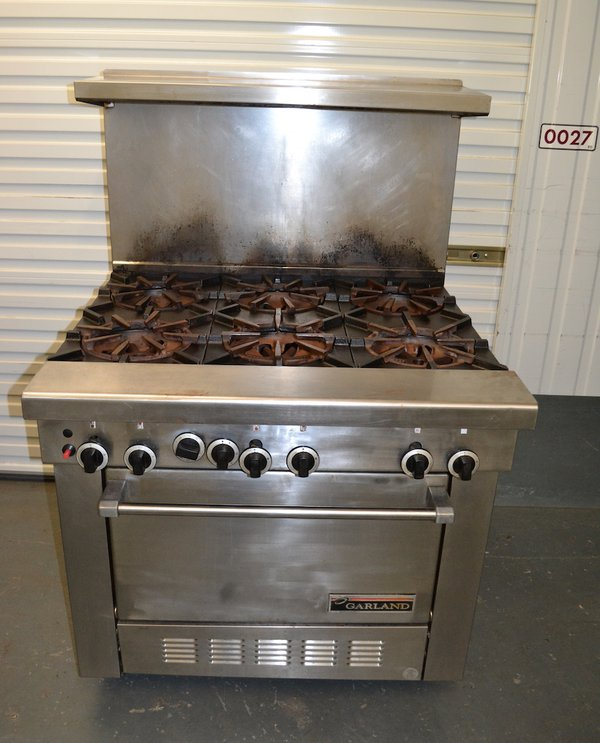 Used Garland Six Burner Gas Range