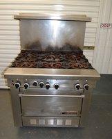 Used Garland Six Burner Gas Range