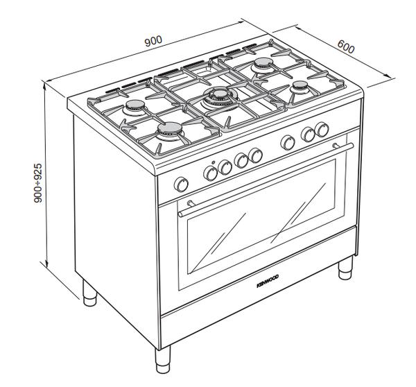 Five burner LPG / Natural gas oven