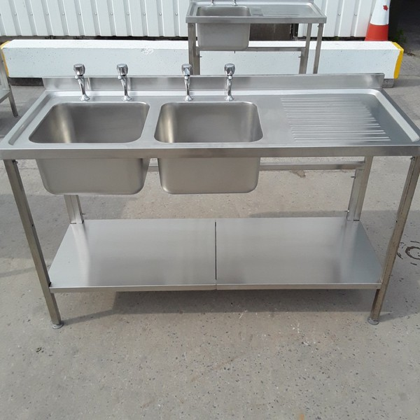New B Grade Stainless Steel Double Sink (A8831)