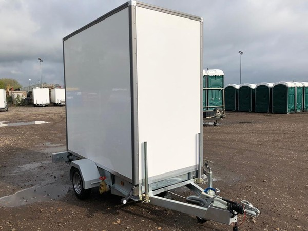 White toilet trailer for sale