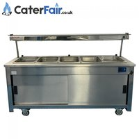 Used Bain-Marie Hot Cupboard with Overhead Gantry (Product Code: CF1387)
