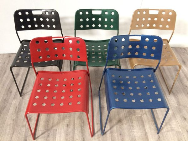 Colour full out door chairs