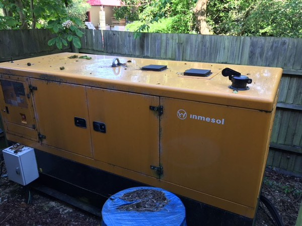 Inmesol 100kva enclosed generator, only 34hrs