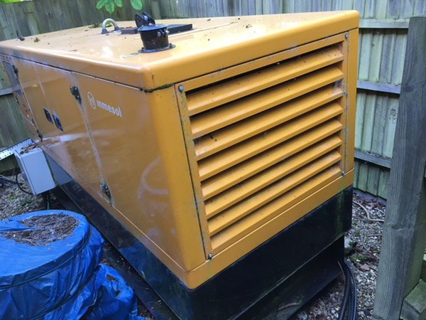 Used Inmesol 100kva enclosed generator, only 34hrs