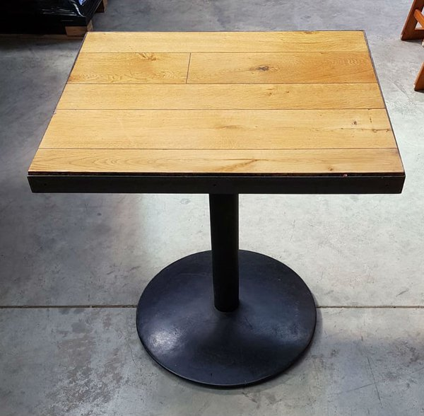 Plank top cafe tables