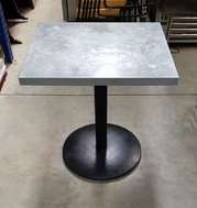 Zink toped cafe table 60cm x 70cm