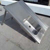 Used Stainless Steel Single Bowl Sink (8866)