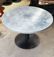 1.1m round table with zink top