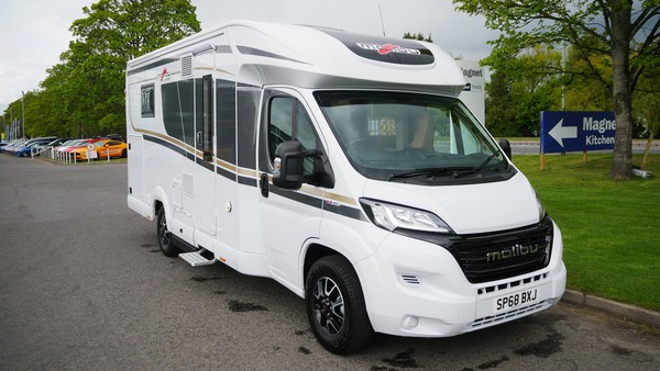 Delivery mileage 3 birth motor home