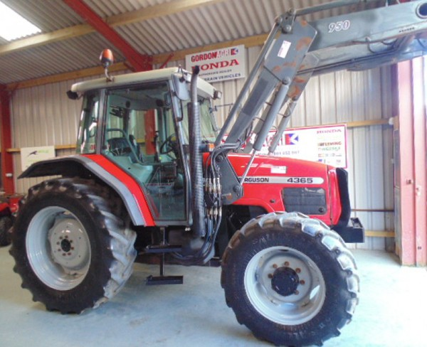 MF loader tractor