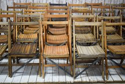 Job Lot of 150 Vintage Folding Chairs