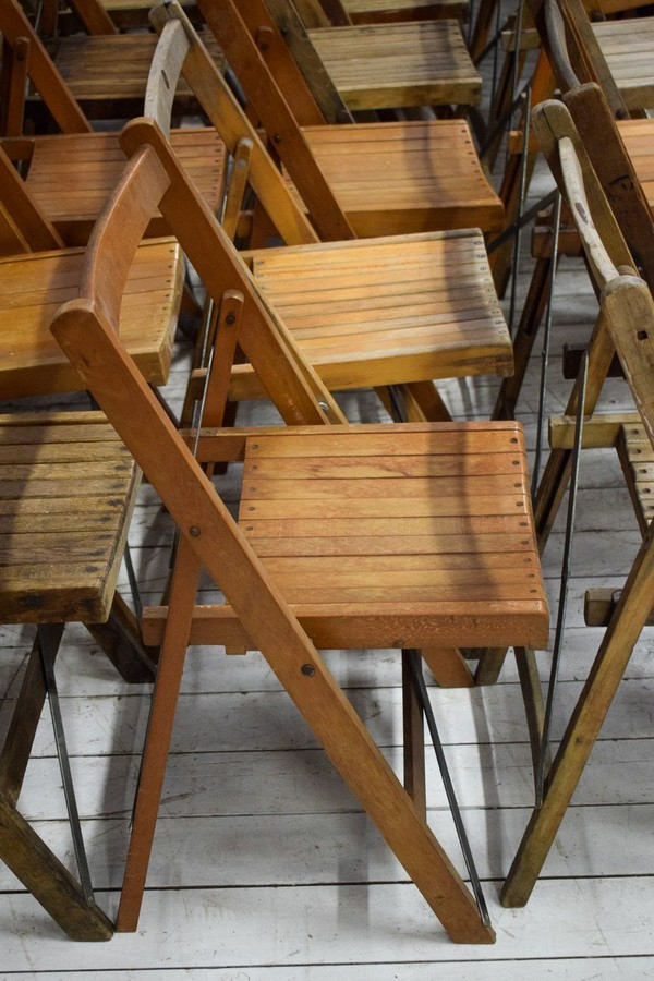 Job Lot of 150 Assorted Vintage Folding Chairs