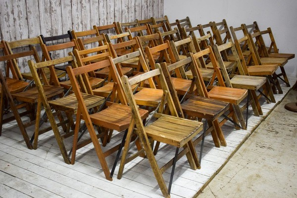 Job Lot of 150 Second Hand Vintage Folding Chairs