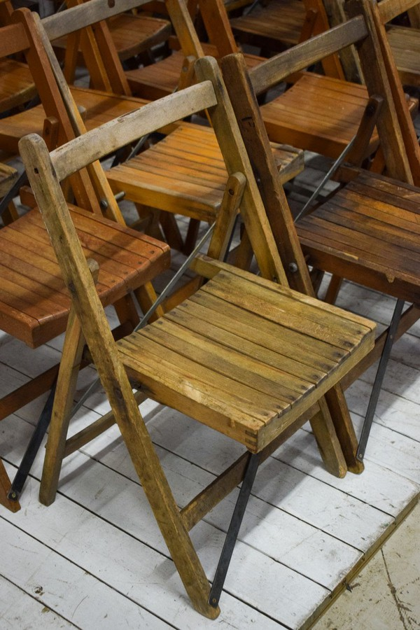 Job Lot of 150 Used Vintage Folding Chairs