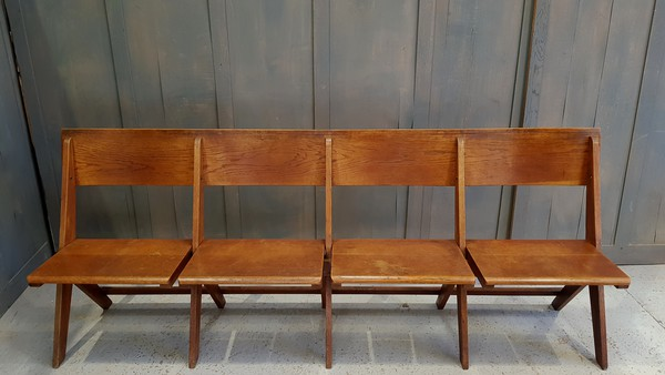 4 seat church bench folding