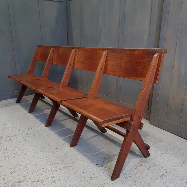 Antique folding church benches