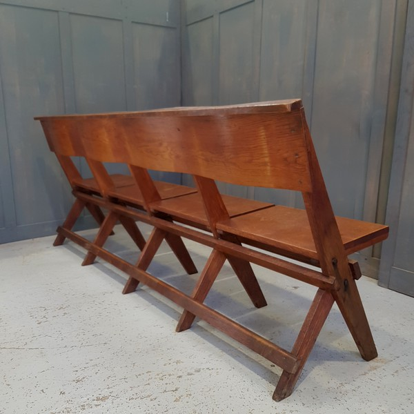 Folding church bench