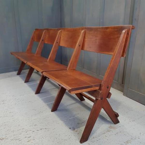 Oak folding benches