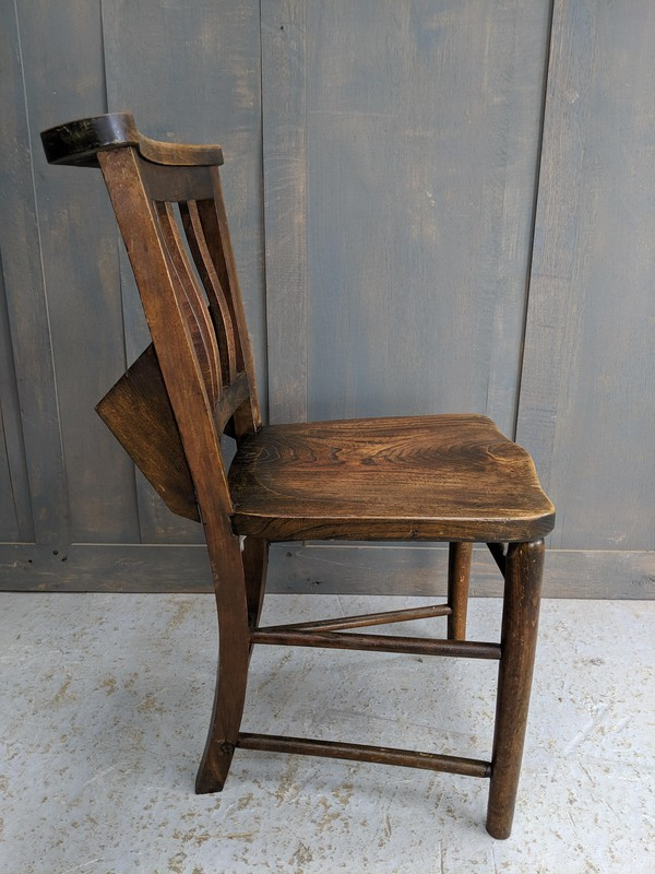 Chapel chair with bible rack