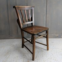 1930's Chapel chairs with bible shelf