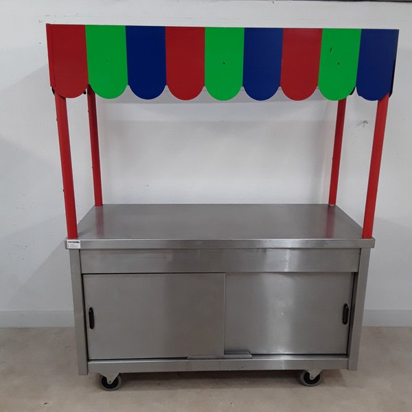 Used  Stainless Steel Table Work Cabinet(8895)