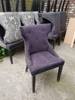 Paisley / Purple Upholstered Chairs