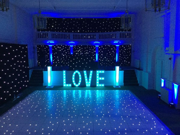 16 x 18 White LED Dancefloor and Letters