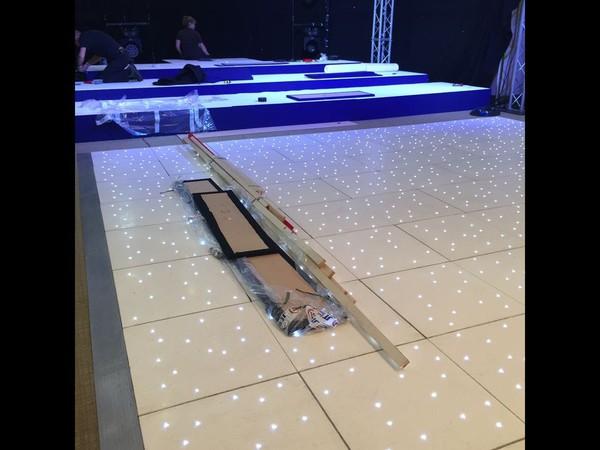 Second Hand White LED Dance floor