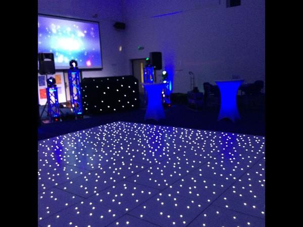 Used White LED Dance floor