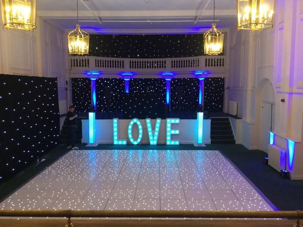 White LED Dance floor
