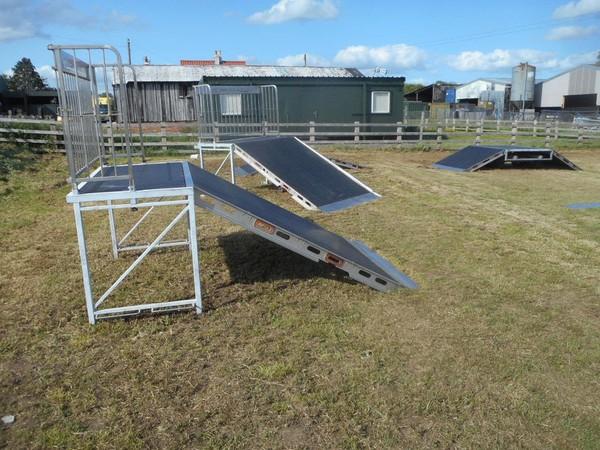 Skate park jump off ramps