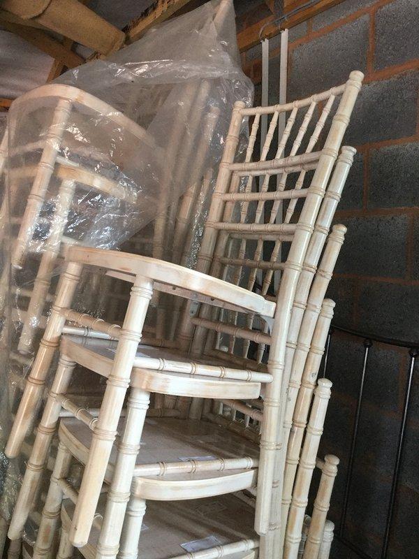 50x Limewashed Chivari Chairs