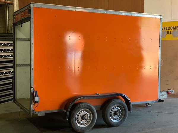 Twin axel box trailer for sale