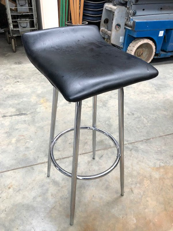 High bar stools Chrome
