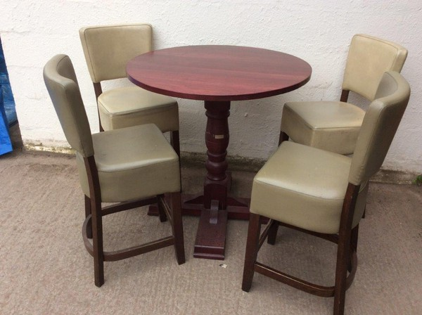 Poseur Tables and 4 Chairs (CODE T 1985P set)