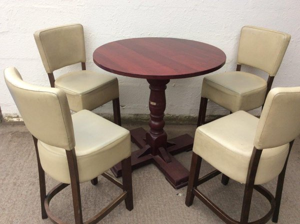 Poseur Tables and 4 Chairs (CODE T 1986P set)